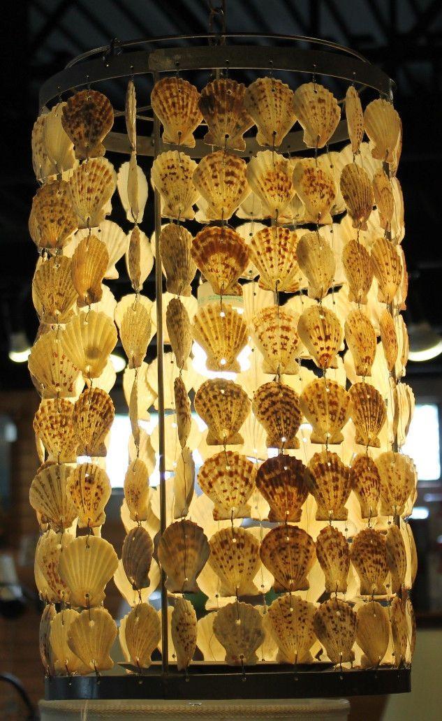 Seashell swag lamp pendant light hanging sea shells lampshade seashell swag lamp pendant light hanging sea shells lampshade chandelier 115 w mozeypictures Gallery
