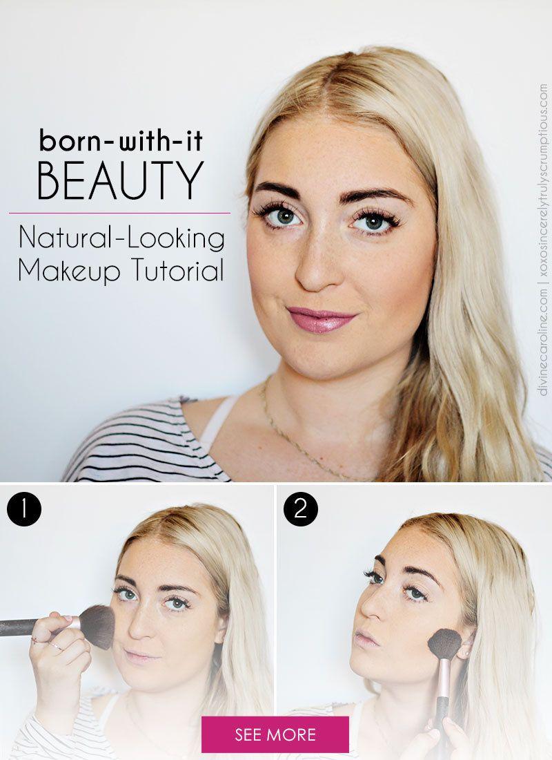 Natural Looking Makeup To Enhance Your Born With It Beauty More Simple Makeup Looks Minimal Makeup Look Makeup