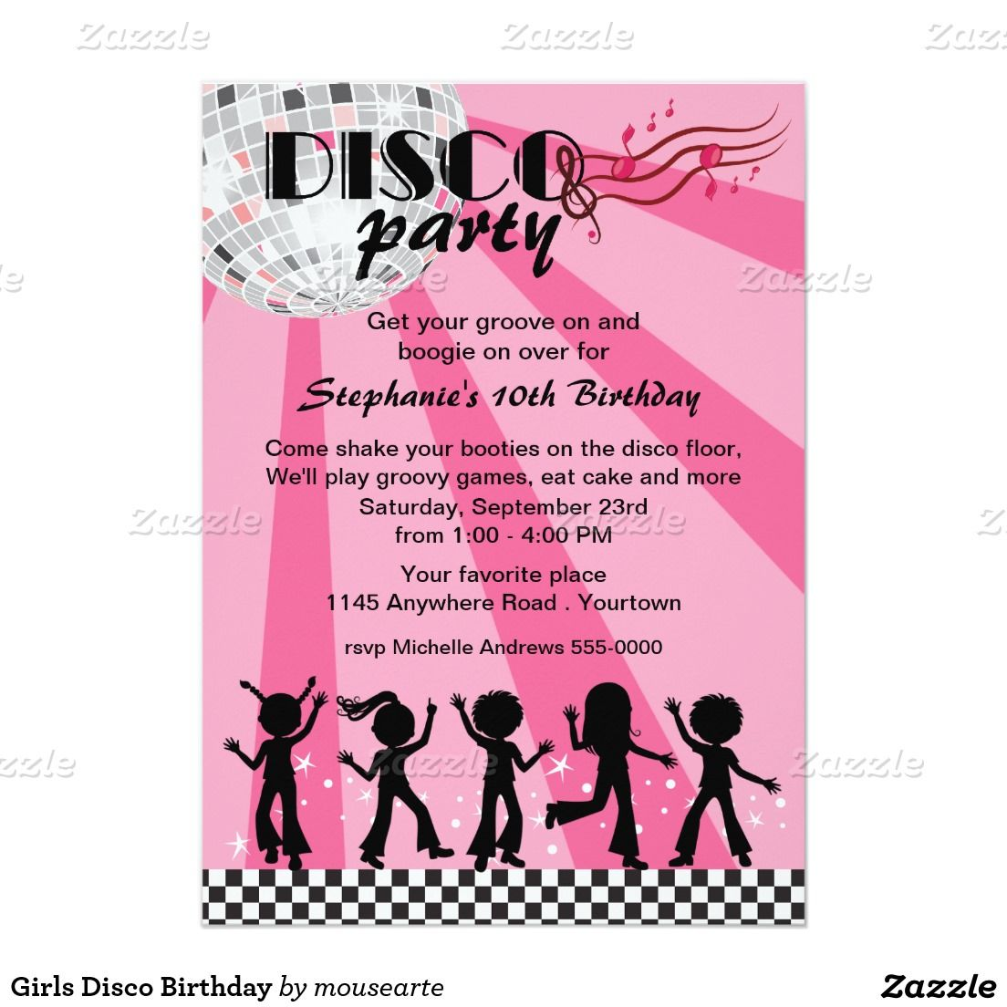 Tween Girls Disco Birthday Card | Discos, Disco party and Birthdays