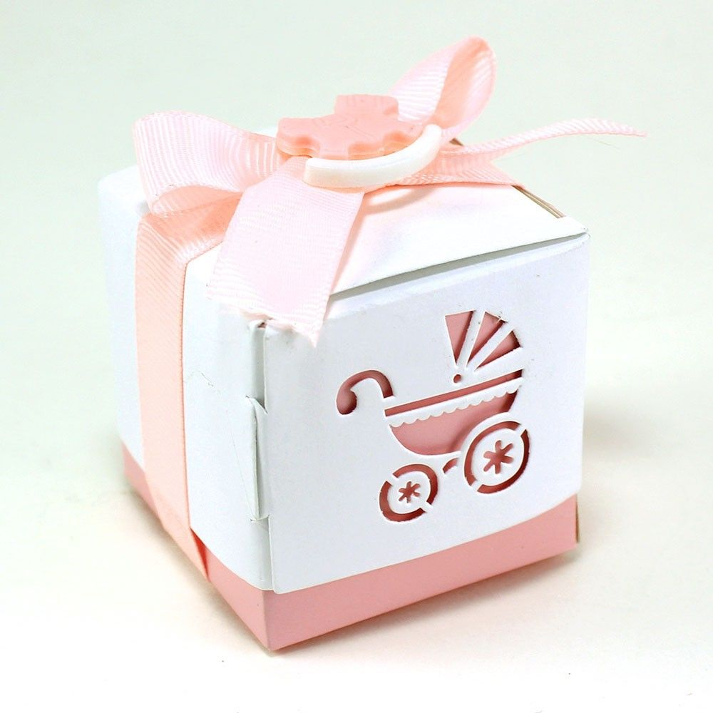 Baby Stroller Design Cutout Favor Boxes (pack of 12 boxes) | Baby ...