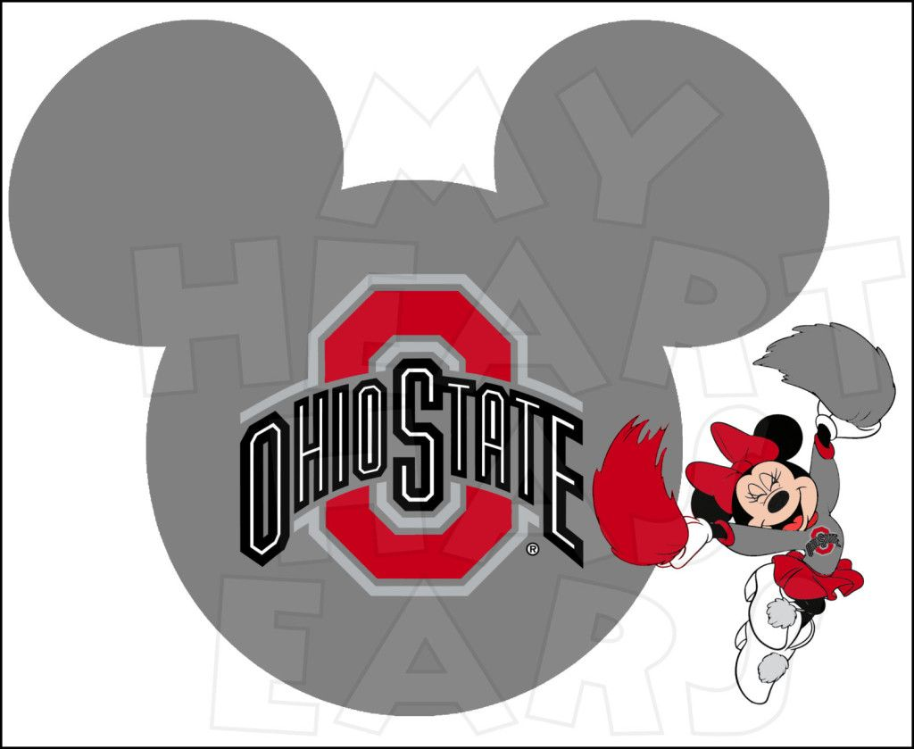 osu ohio state buckeyes football with minnie mouse instant download rh pinterest co uk osu buckeye clipart osu buckeye clipart
