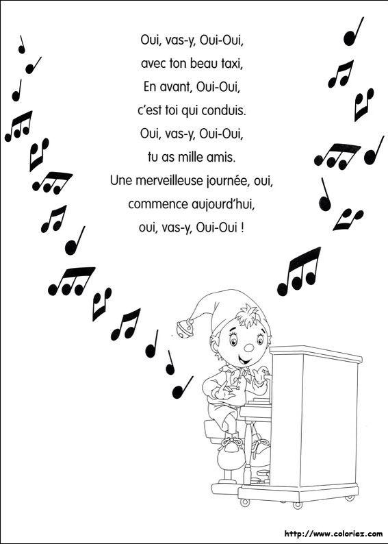 Paroles Oui Oui Le Songe Dune Nuit Dété Color Coloring Pages