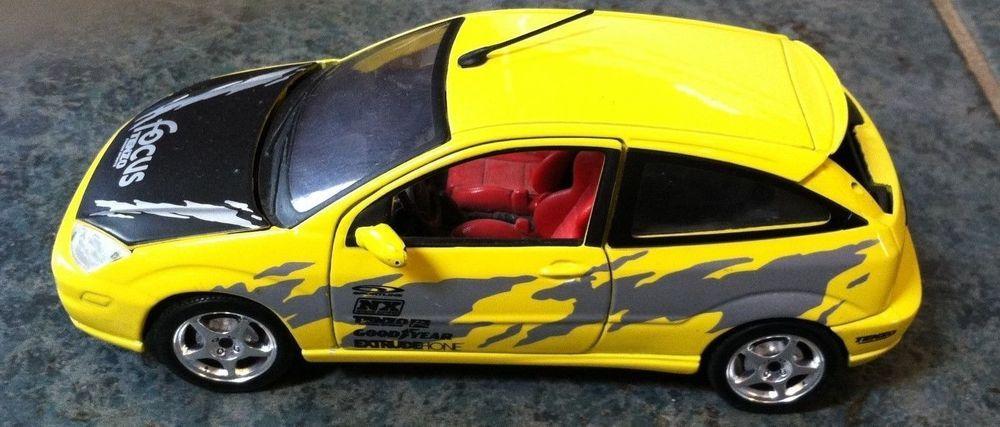 Maisto Ford Focus Die Cast Toy Car Yellow Interior Red Maisto Ford Toy Car Ford Focus Yellow Interior