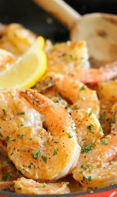 Garlic Butter Shrimp #shrimprecipes