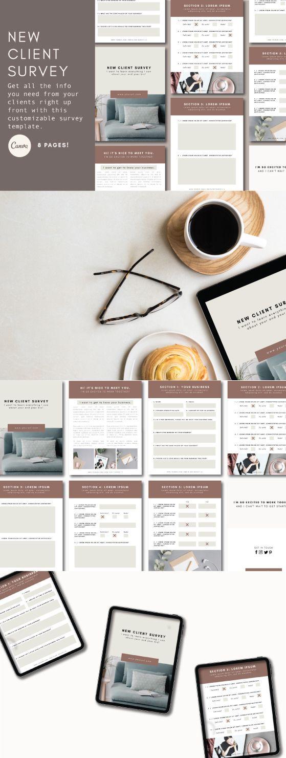 New Client Survey Tiny Pine Creative In 2020 Client Questionnaire Branding Advice Templates