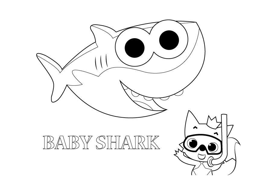 Pin By Fabiana Soares Cruz On Summer Camp Shark Coloring Pages Baby Coloring Pages Baby Shark