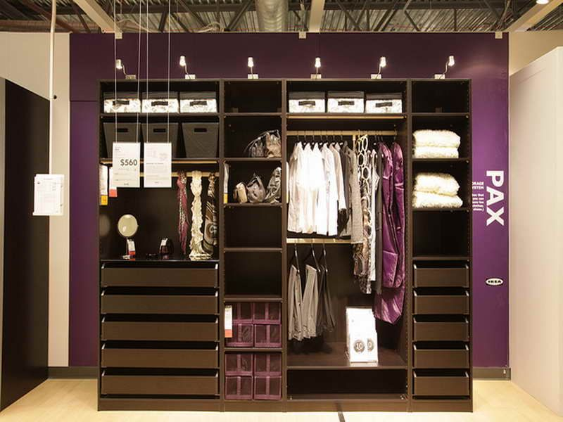 Ikea Closet Organization Ideas Part - 23: Accessories : Discover The Amazing Ikea Closets Designs With Purple Wall  Discover The Amazing IKEA Closets Designs Closet Storageu201a Ikea Closet  Organizeru201a ...