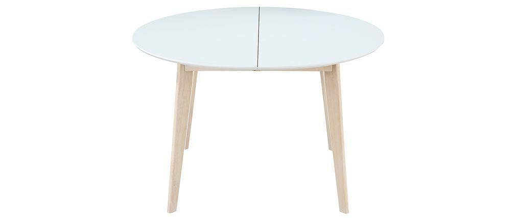 Blanc Manger À L120 Et Bois Leena Ronde 150 Design Table Extensible CxdorBe