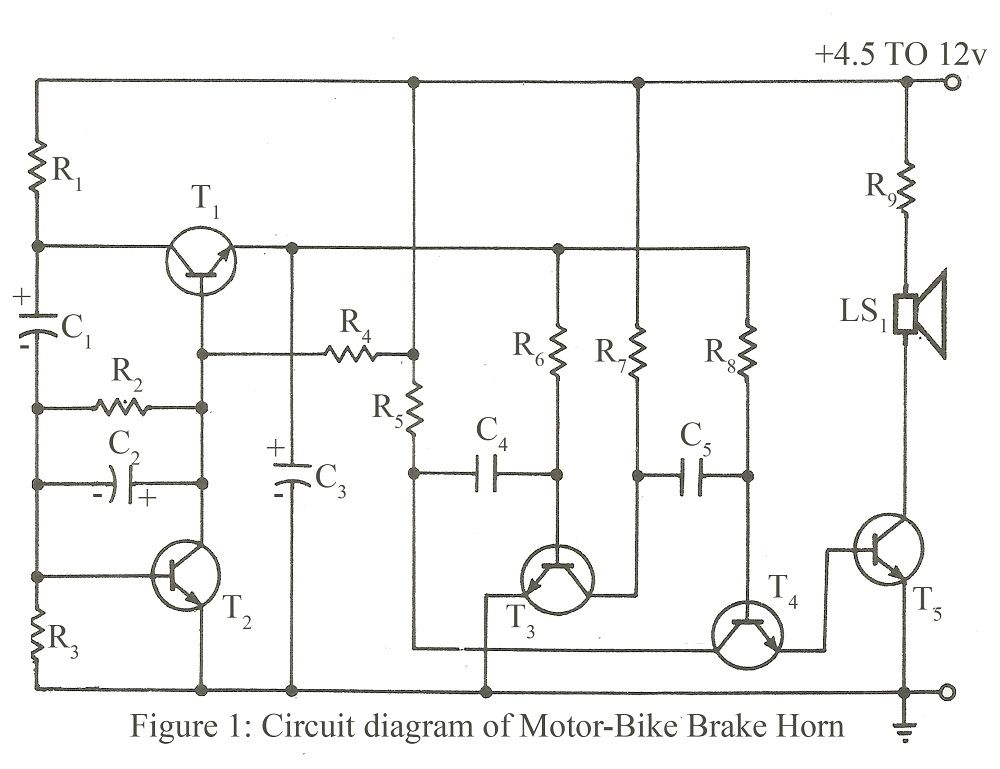 Circuit Diagram Of Motor Bike Brake Horng 1000769 Science Y