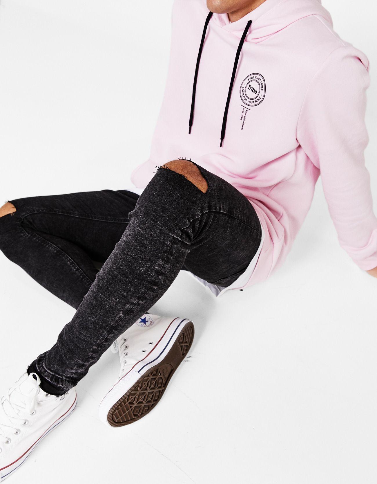 eb496e47f Jeans super skinny lavado - Jeans - Bershka España #mensjeansripped ...