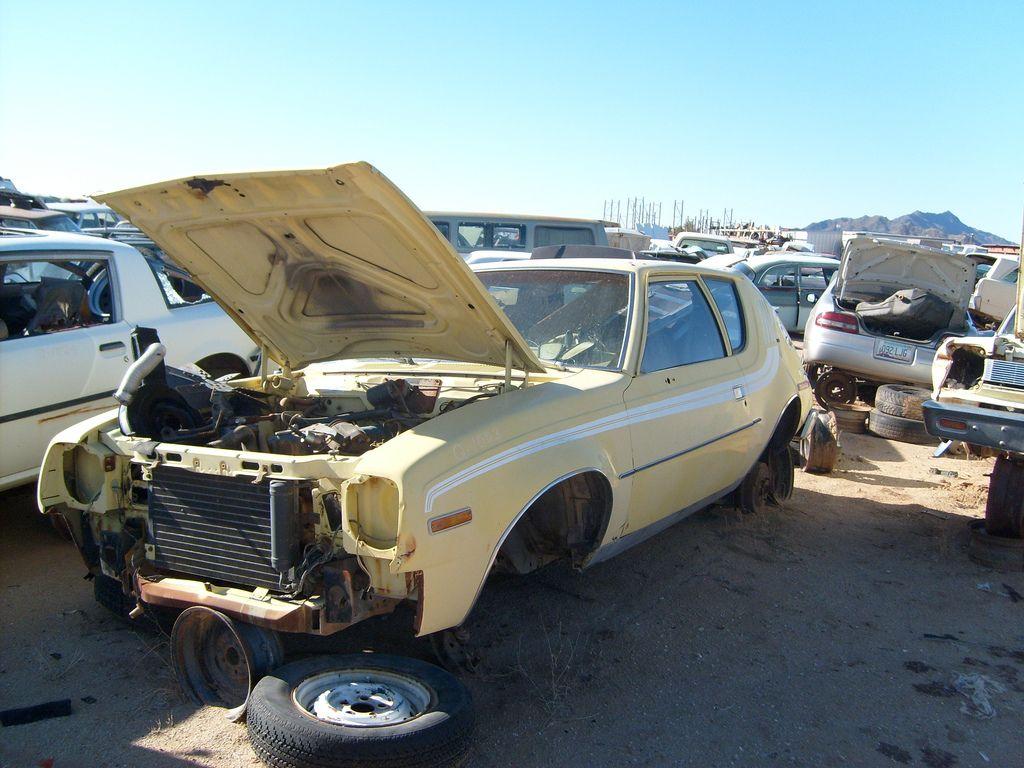 Hidden Valley Auto Wrecking Amc gremlin, Abandoned cars