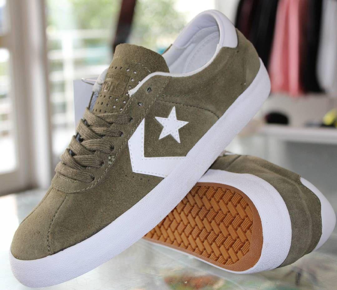 Les skate shoes Converse Break Point Pro Medium Olive White