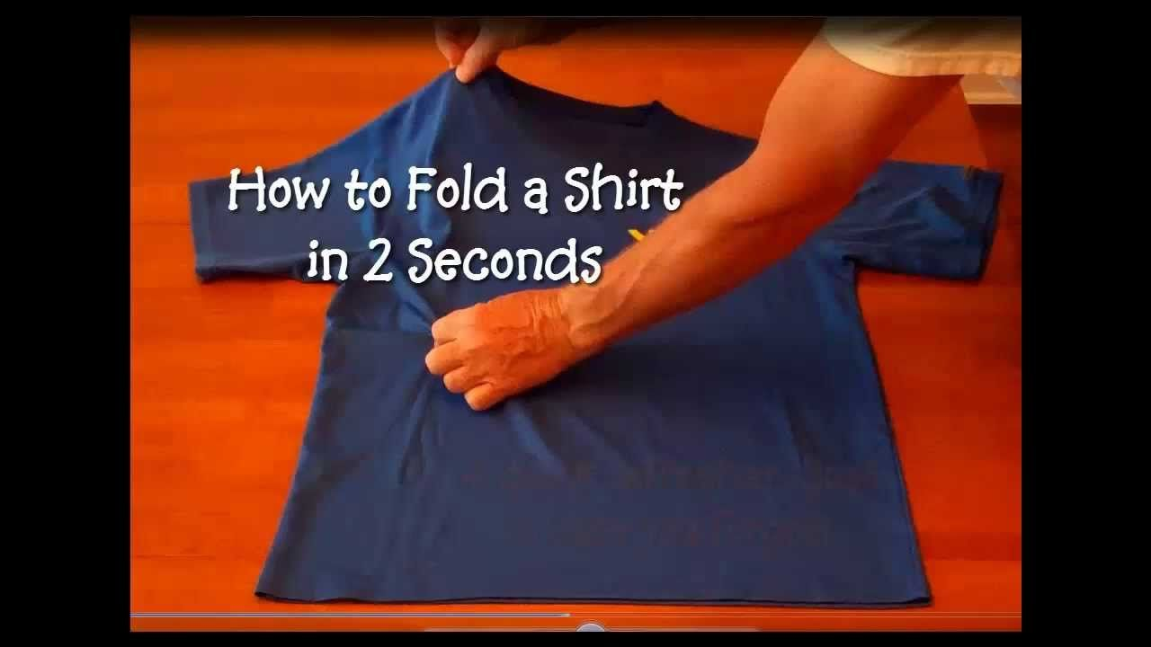 How To Fold A Shirt In 2 Seconds Who Knew Shirt Folding Fold Folding Clothes