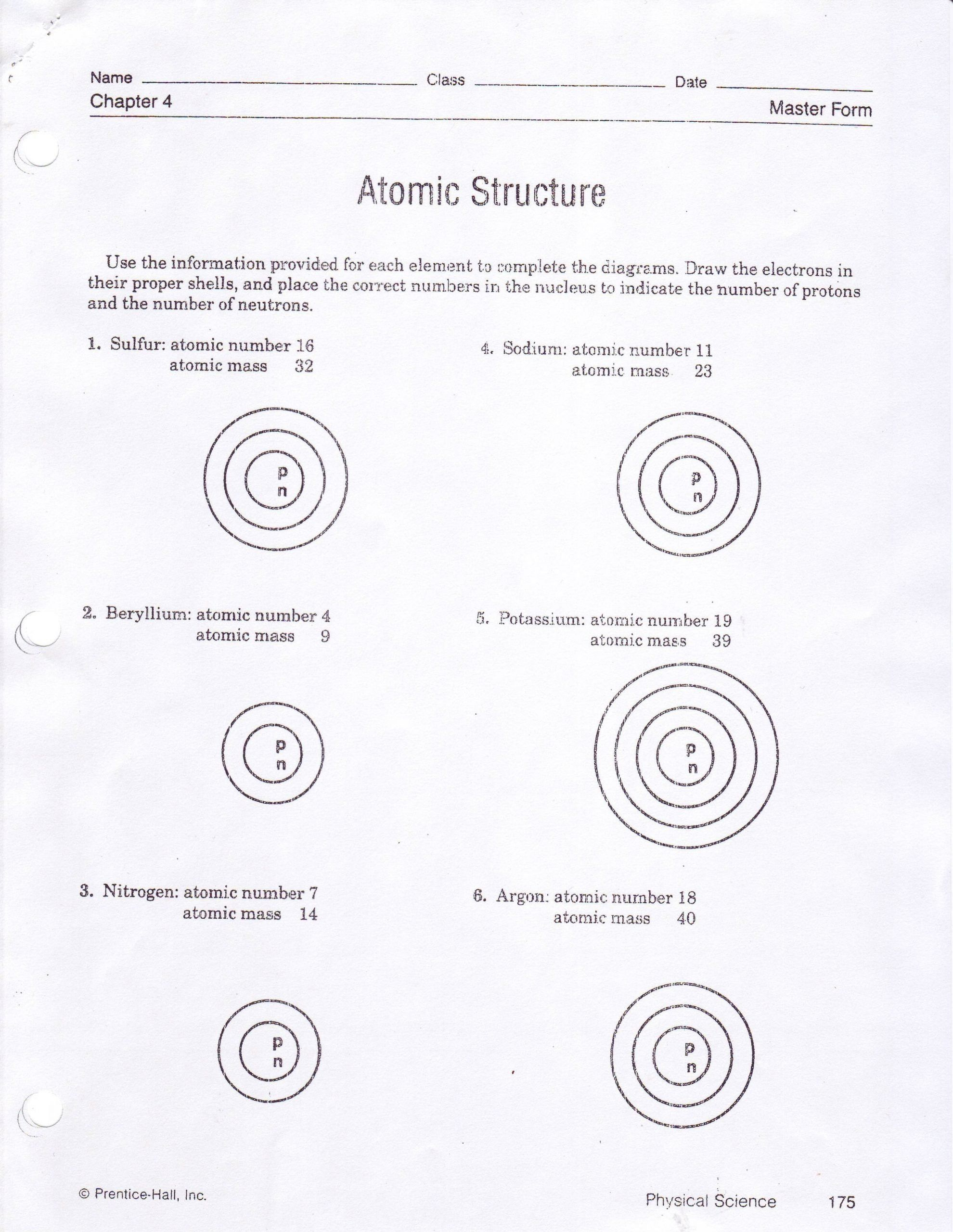 Atomic Structure Bohr Model Worksheet Integratedsciencei In 2020 Worksheets Simple Fractions Worksheets Atomic Theory