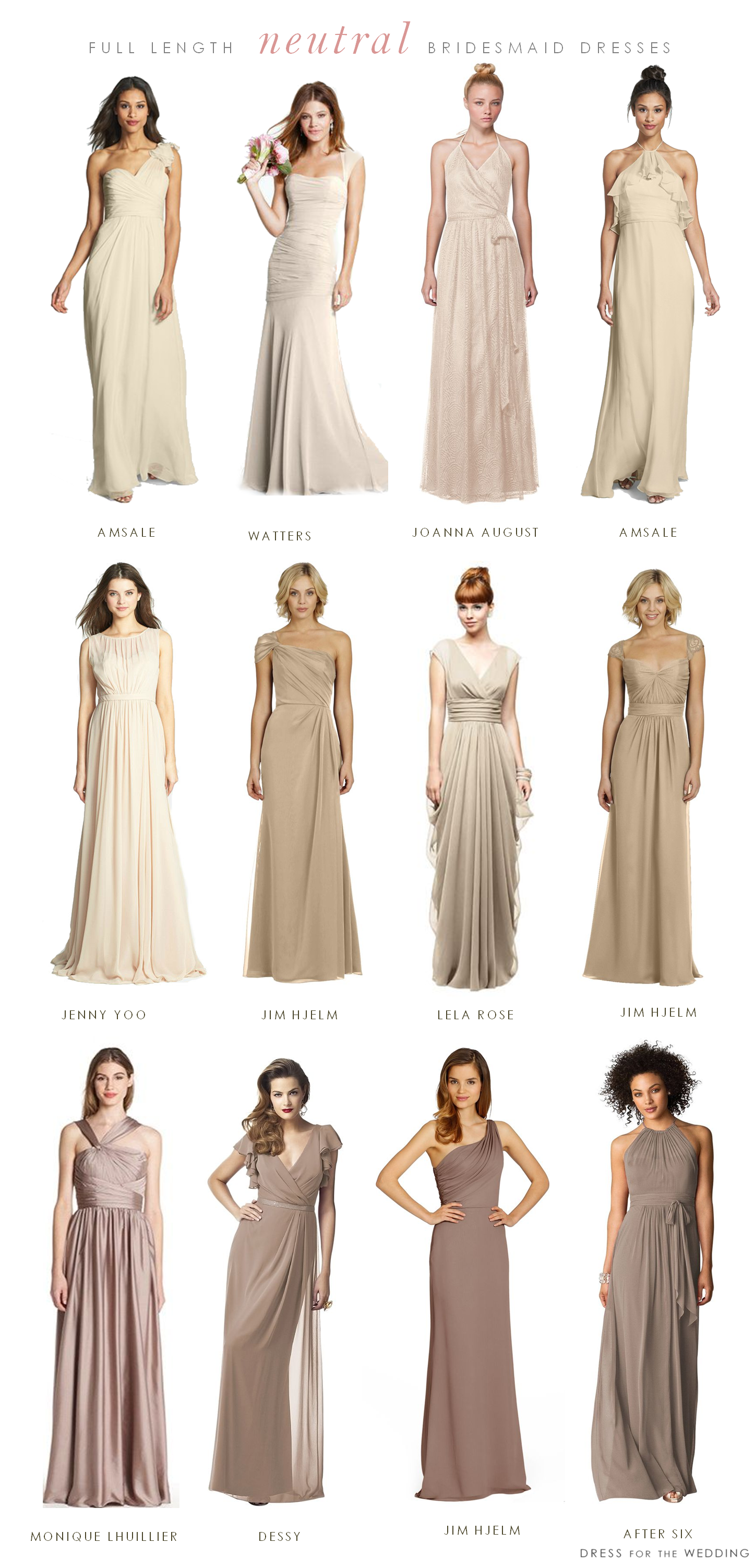 Mismatched neutral bridesmaid dresses wedding wedding and dress long neutral bridesmaid dresses ombrellifo Image collections
