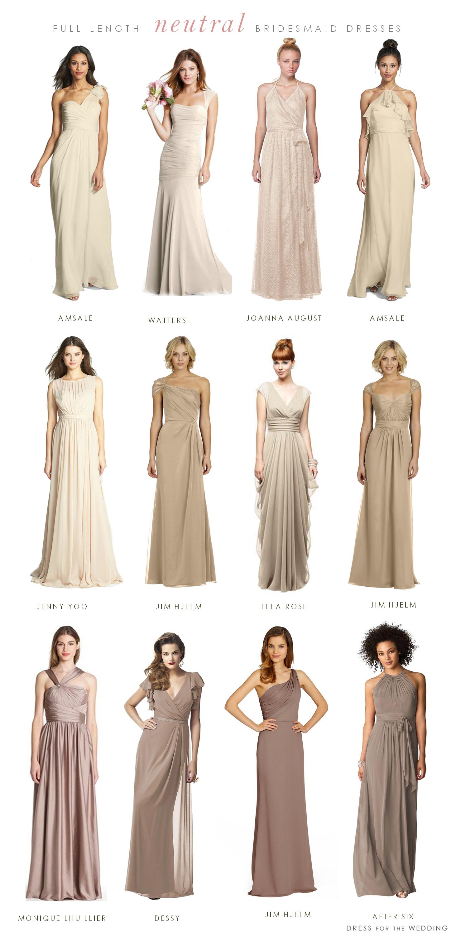 Mismatched neutral bridesmaid dresses pinterest neutral wedding