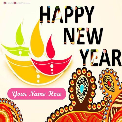 New Year Greeting Card With Name Edit Design Beautiful