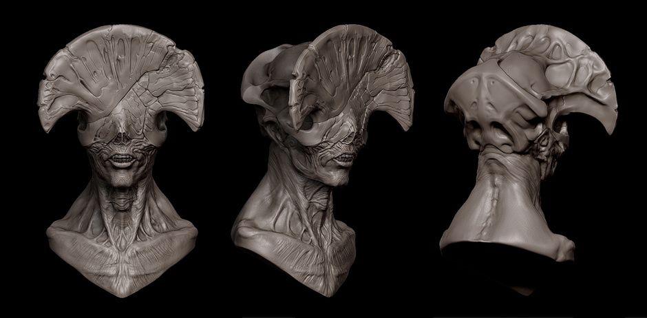 Angel of death hellboy2 mock up bust by brian oskins