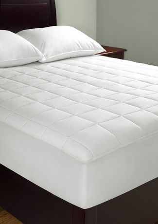 Mainstays Total Protection Mattress Pad Twin White King