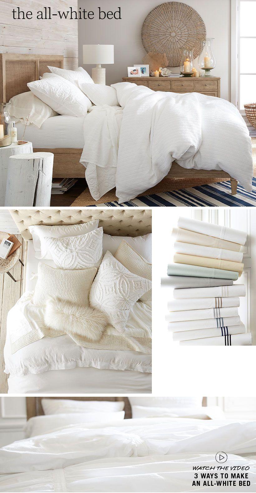 all white bedding  pottery barn. all white bedding  pottery barn  the insides (bedroom