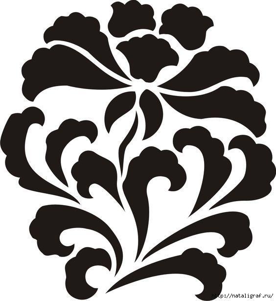 трафарет для вышивки-апликации alabama | шаблон (цветы и растения ...