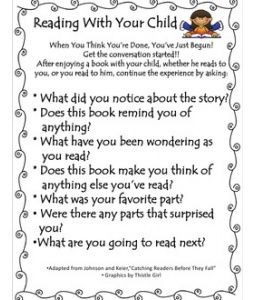 Reading With Your Child- Book Bag Buddies