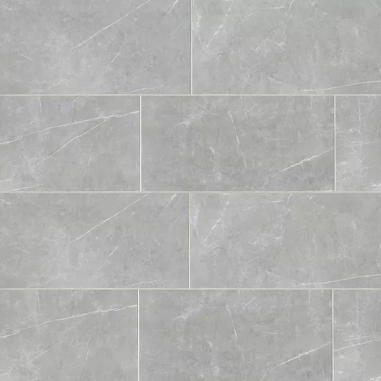 Troy 12 X 24 Floor Wall Tile In Silver Bedrosians Tile Stone Bathroom Wall Tile Wall Tiles Ceramic Wall Tiles
