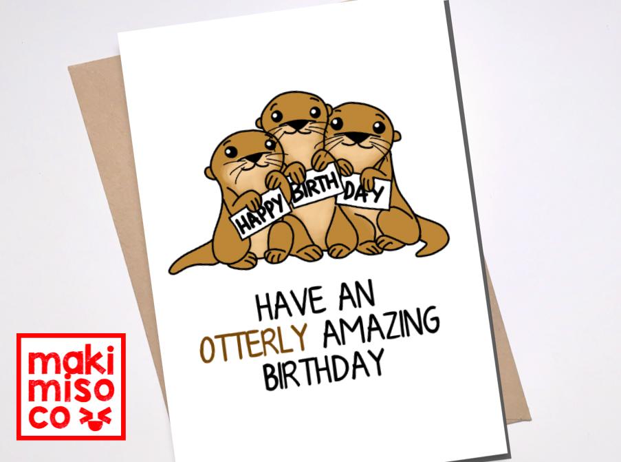 OTTERLY AMAZING BIRTHDAY Card - Love birthday Boyfriend ...