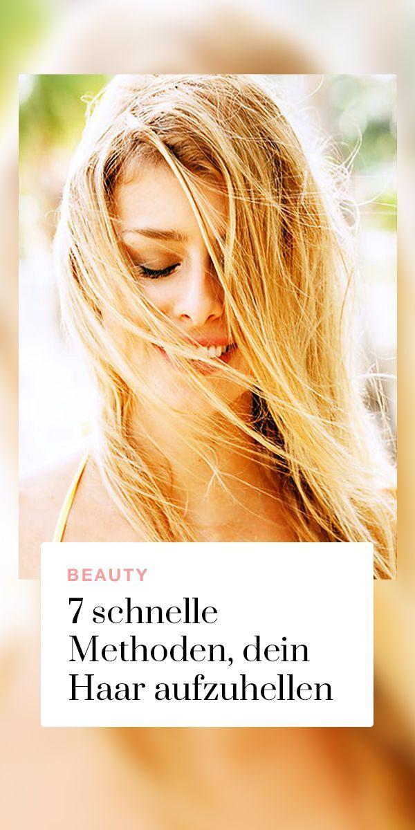 Haare natürlich aufhellen » 7 schnelle & einfache Methoden