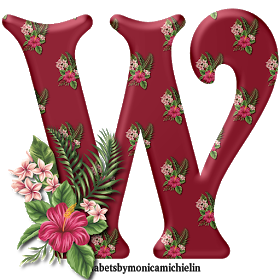 Alphabets By Monica Michielin Tropical Flowers Hawaii Alphabet And Icons Png Alfabeto Flores Tropica Tropical Flowers Hawaii Tropical Flowers Flower Alphabet