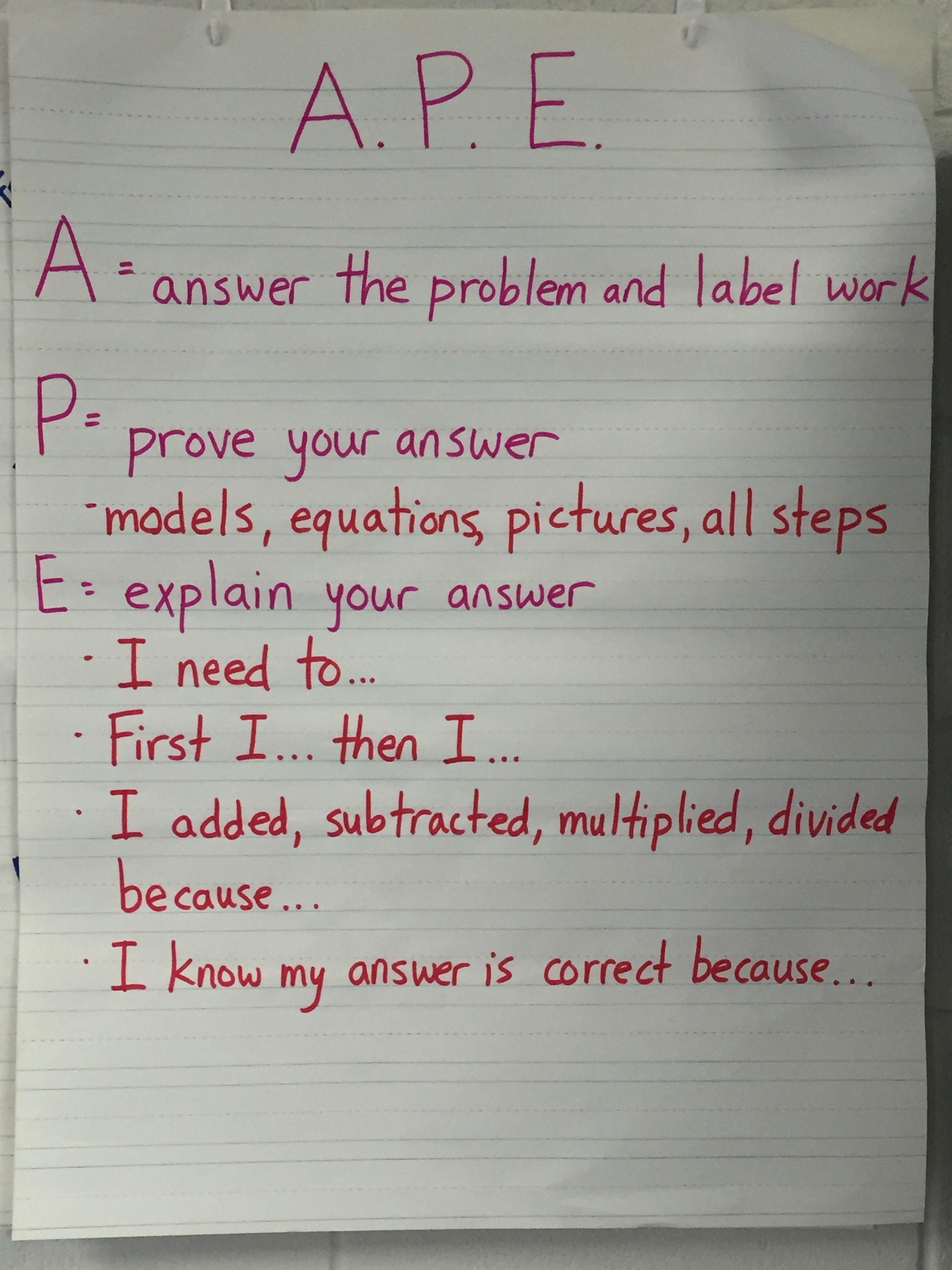 Math Response Sheets Fifth Grade