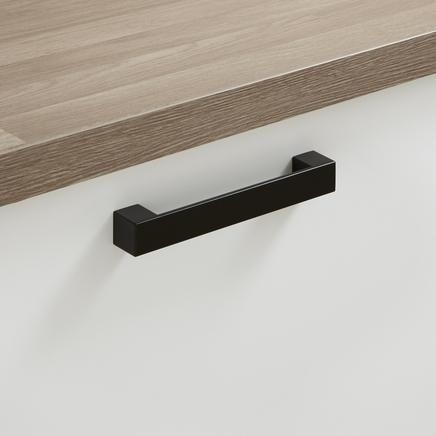 Kitchen cupboard handle - Black Square Bar Handle | kitchen cupboard ...