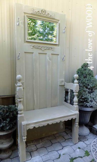 4 The Love Of Wood: RECLAIMED DOOR   Hall Tree