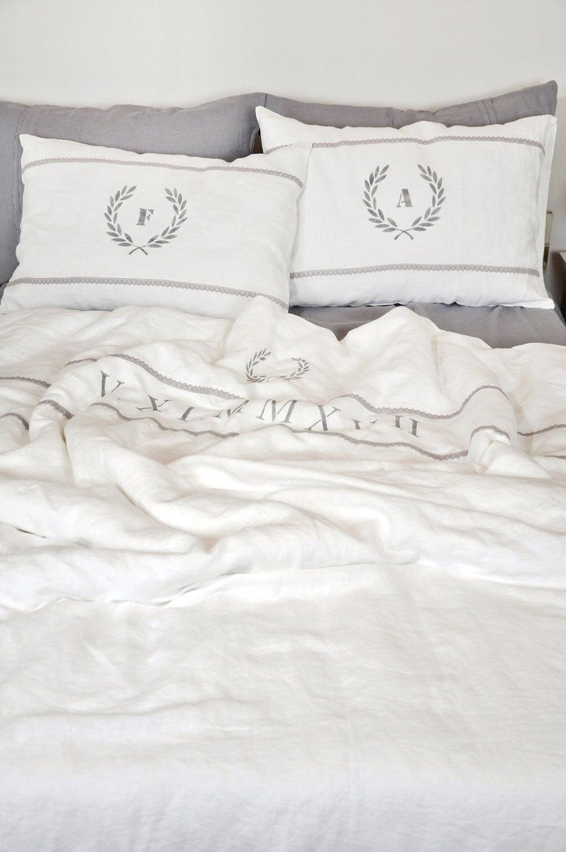 Linen Flax Bed Room Gift Pillow Cases