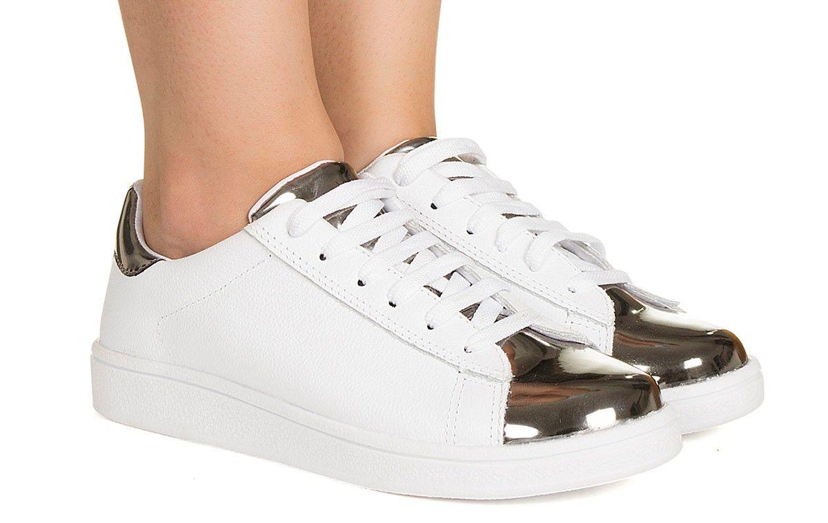 533a69eb4d Tênis branco e prata Taquilla - Taquilla - Loja online de sapatos femininos