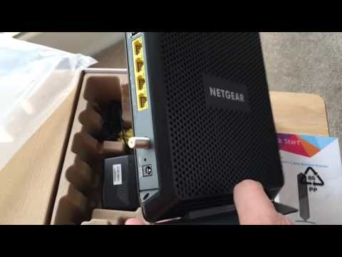 Netgear Nighthawk AC1900 Cable Modem WiFi Router Unboxing. Use the ...