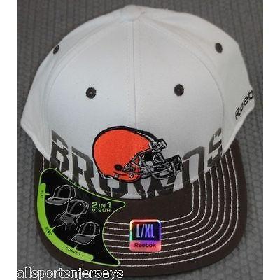 NFL REEBOK CLEVELAND BROWNS HAT 2010 SIDELINE CAP SIZE L/XL