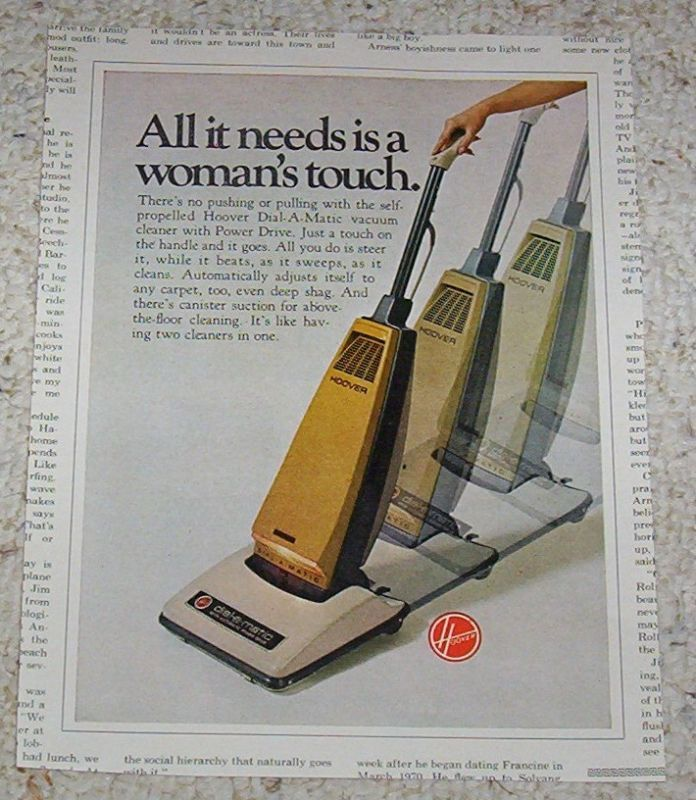 1971 Advertising Hoover Dial A Matic Power Vacuum