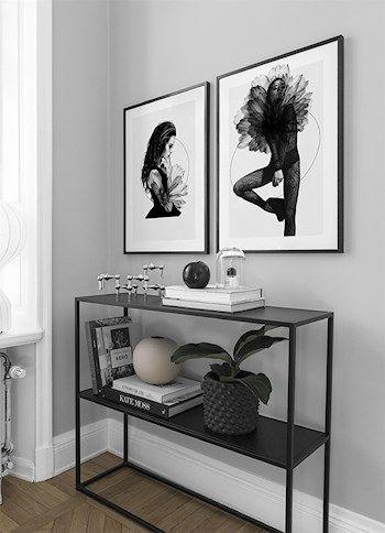 3 olika inredningsstilar i posters | Grånyanser #deseniobilderwandwohnzimmer