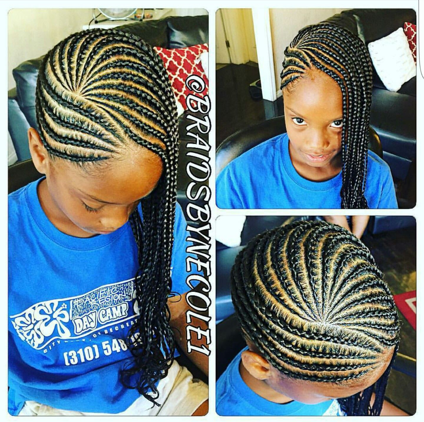 Braiding Hairstyles For 10 Year Olds Brilliant Children's Cornrows  Natural Hair Style Braids  Pinterest