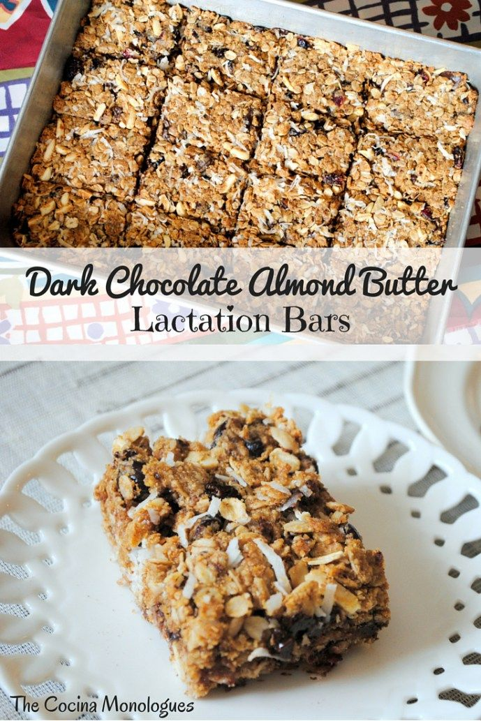 Dark Chocolate Almond Butter Lactation Bars  Recipes  Lactation Cookies -5458