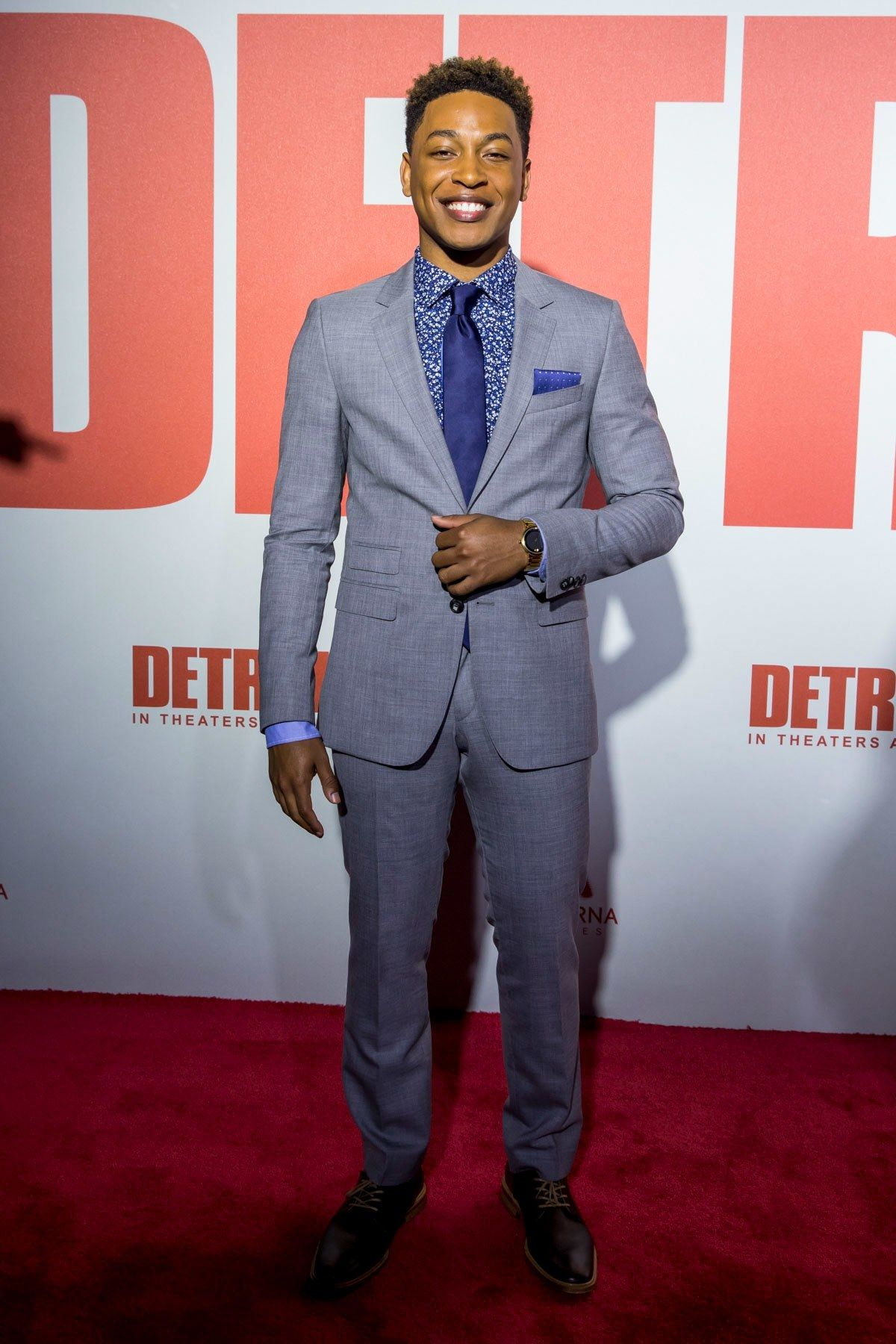 What John Boyega And The Detroit Cast Can Teach You About Blue Suits Blue Suit Jacob Latimore John Boyega