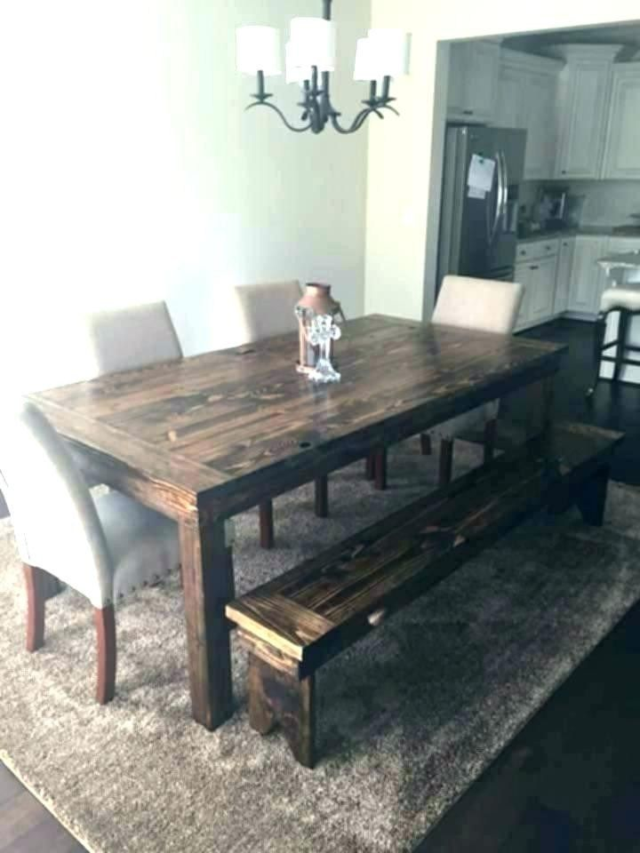 Farmhouse Bench Dining Table Lovely Easy Diy Dining Room
