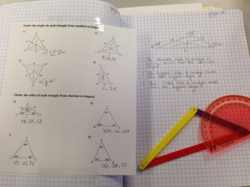 Day 44 Triangle Side Angle Relationship Teaching Geometry Math Math Teacher
