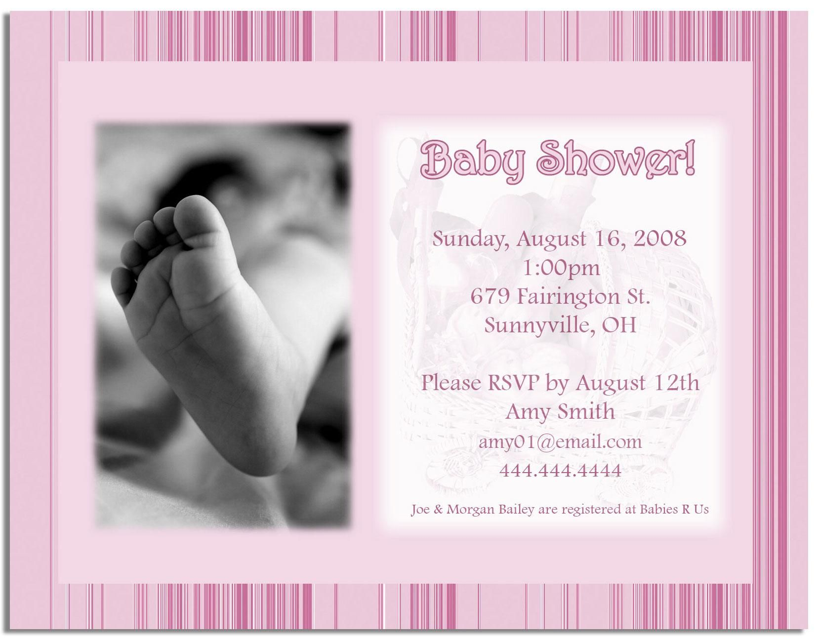 17 Best images about Homemade baby shower invitation on Pinterest ...