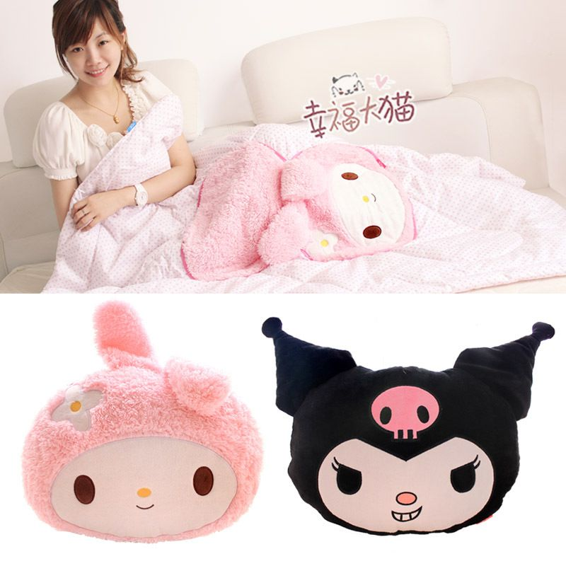 My melody little demon of kuromi high quality 100% cotton air conditioning cushion is pillow dual on AliExpress.com. 15% off $21.06