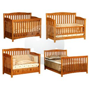 USA Made Amish Non Toxic Baby Nursery Furniture : Amish Hand Crafted  Monterey 4 In 1