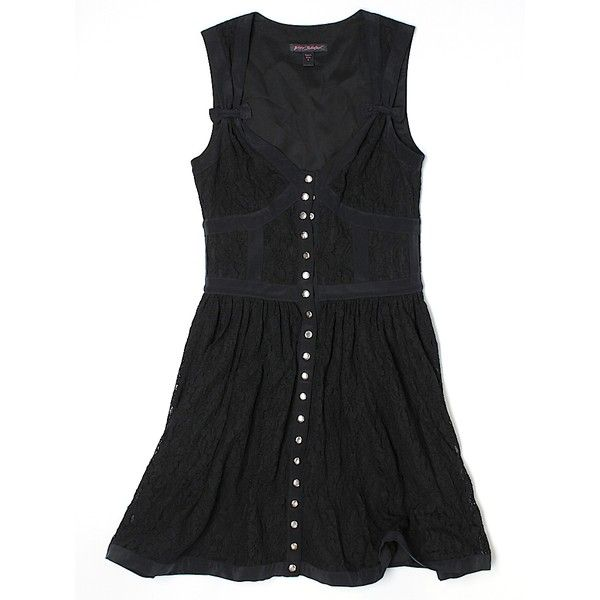 Pre-owned Betsey Johnson Cocktail Dress Size 4: Black Women's Dresses ($34) ❤ liked on Polyvore featuring dresses, black, betsey johnson cocktail dress, pre owned dresses, preowned dresses, betsey johnson dresses and betsey johnson