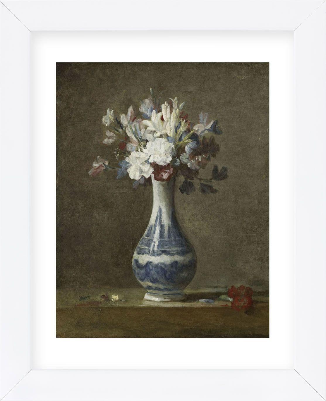 Vase Of Flowers Framed Цветочные картины Цветочное искусство Краска