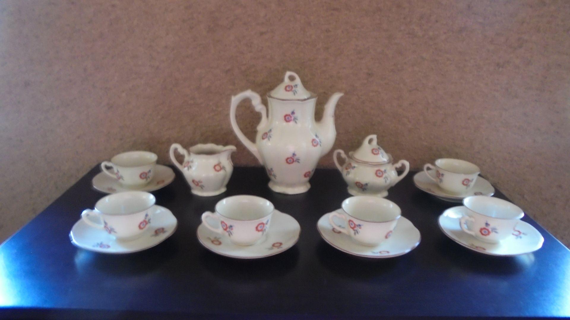 Serwis Kawowy Do Mokki Porcelana Chodziez1960 Prl Porcelana